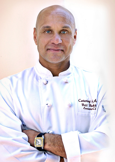 Photo of head chef and owner of Blackburn's Catering, Bill Blackburn